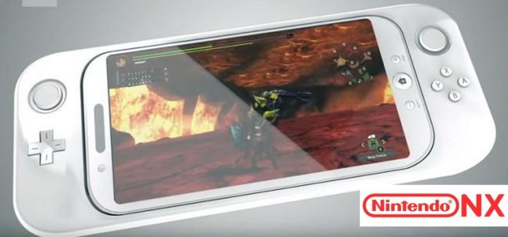 Nintendo NX com Tela 6.2, 720p, Controles de movimento, Vibração, D-Pad e Share