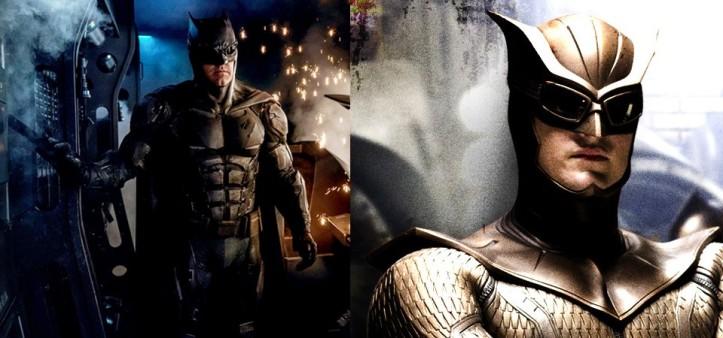 Batman com visual do Coruja do Watchmen em Liga da Justiça