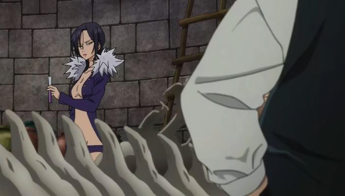 Meliodas convida Merlin para ser garçonete (Nanatsu no Taizai - Seisei no Shirushi - Episódio 04)