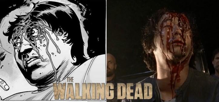 The Walking Dead - Season 7 - Comparação da morte do Glenn da Série X Quadrinhos