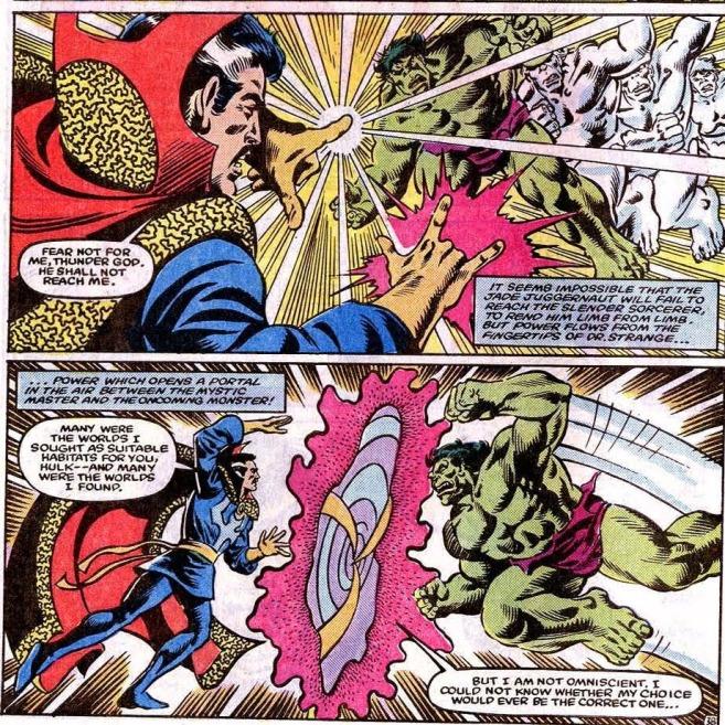 Doctor Strange send Hulk to Crossroads