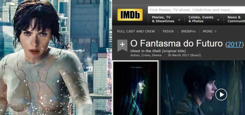 Ghost in the Shell é o Vigilante do Amanhã e o Fantasma do Futuro