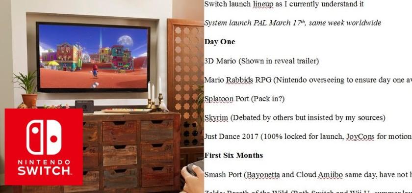 Nintendo Switch - Laura Kate Dale revela no twitter detalhes dos jogos do primeiro ano