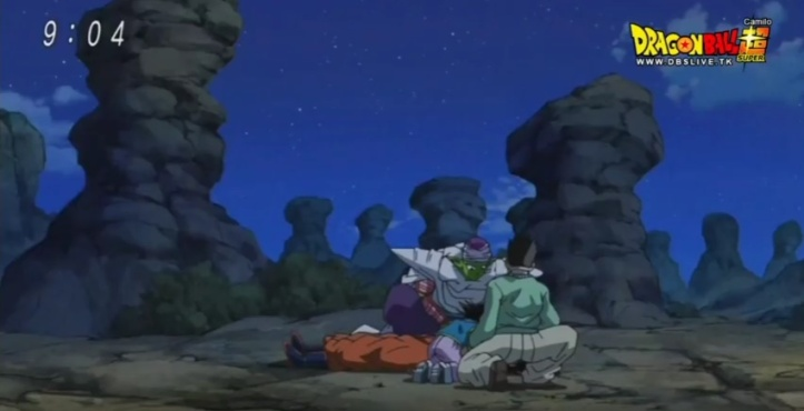 Gohan, Goten e Picollo encontram Goku morto (Dragon Ball Super - Episódio 71)