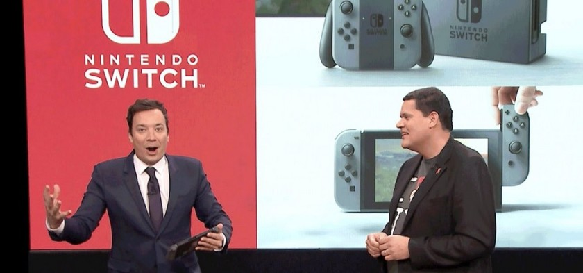 Reggie leva Nintendo Switch no programa do Jimmy Fallon