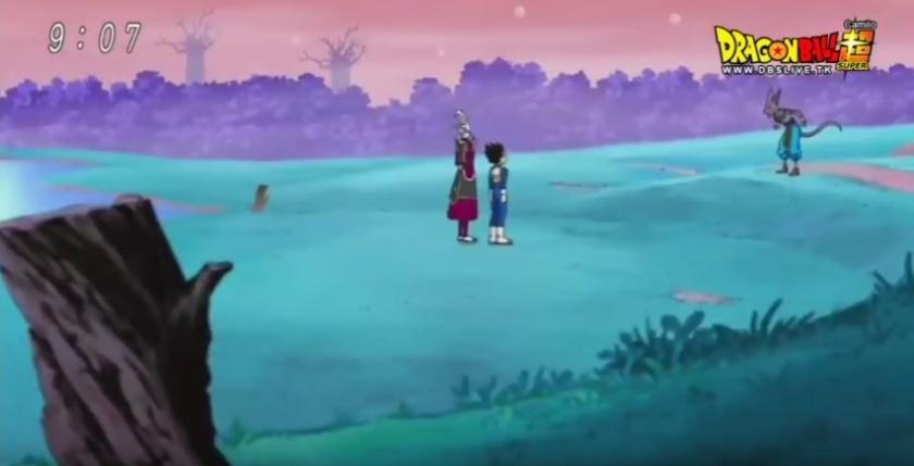 Bills procurando Goku para o torneio do Zenou (Dragon Ball Super - Episódio 71)