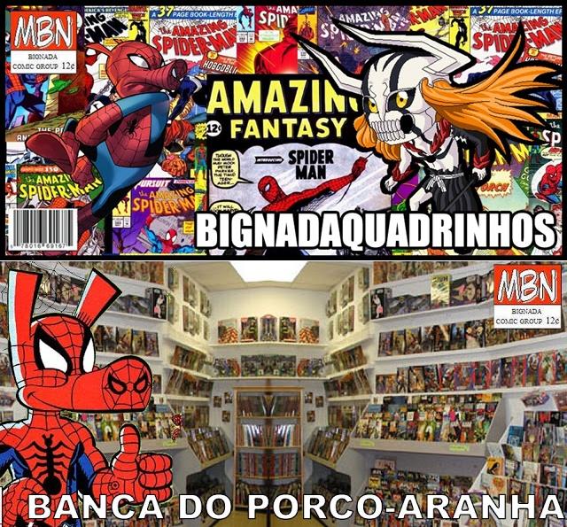 BignadaQuadrinhos vai virar Banca do Porco-Aranha