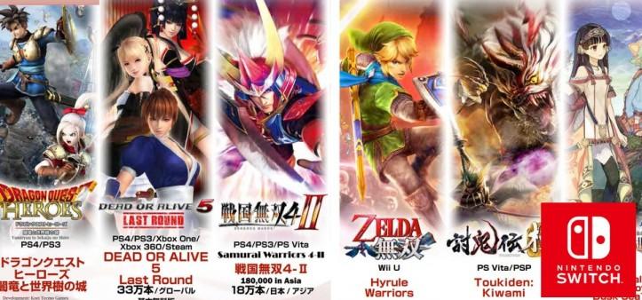 Koei Tecmo lançará novo Warriors para o Nintendo Switch, segundo Obe1Plays