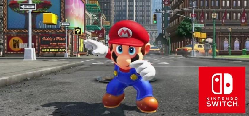Nintendo Switch - Super Mario Odissey e os jogos da apresentação