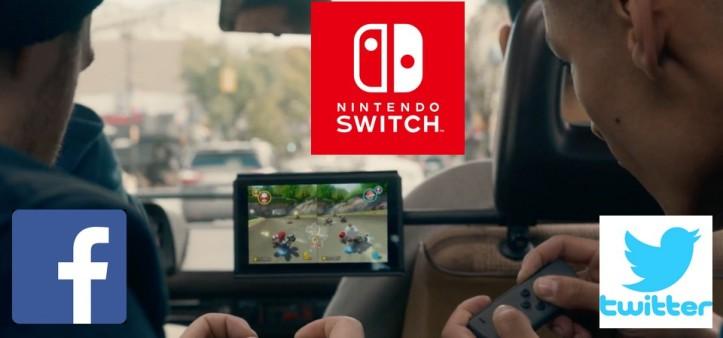 Nintendo Switch terá integração com facebook e twitter, segundo Obe1Plays