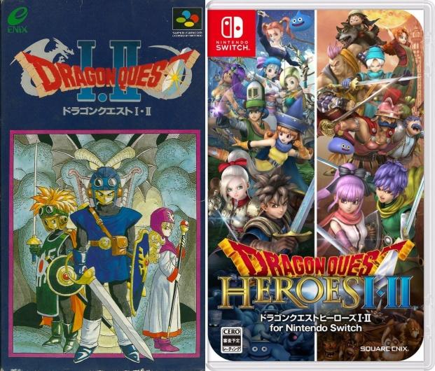 Dragon Quest I e II (Snes) e Dragon Quest Heroes I e II (Switch)