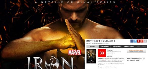 Punho de Ferro tem piores reviews das séries da Marvel Netflix