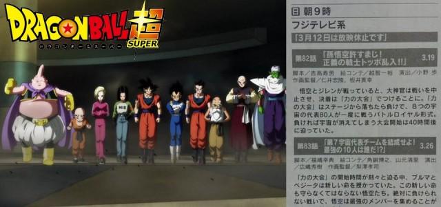 Títulos e Spoilers dos Episódio 82, 83, 84 e 85 de Dragon Ball Super