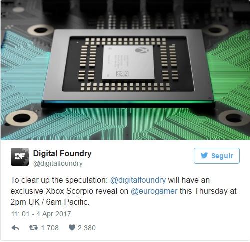 Project Scorpio será revelado com exclusividade do Digital Foundry