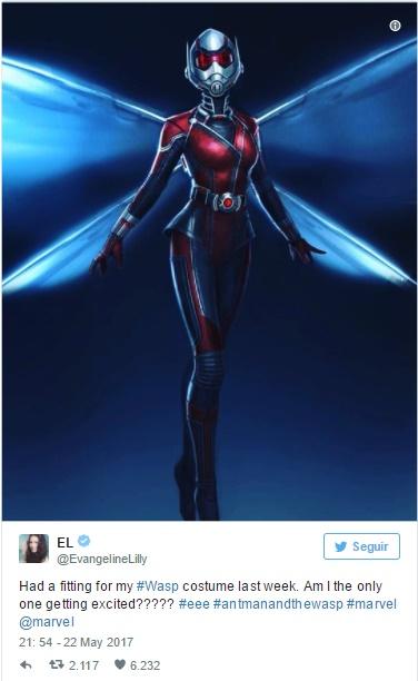 Evangeline Lily libera primeira imagem oficial da Vespa