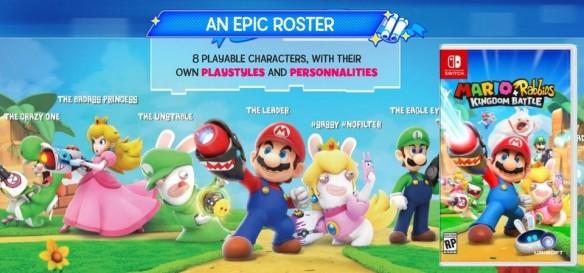 Vazam imagens de Mario+Rabbids Kingdom Battle de Nintendo Switch
