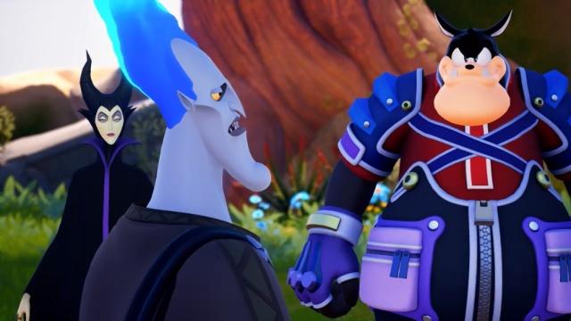 Kingdom Hearts III - Malévola, Hades e Bafo de Onça