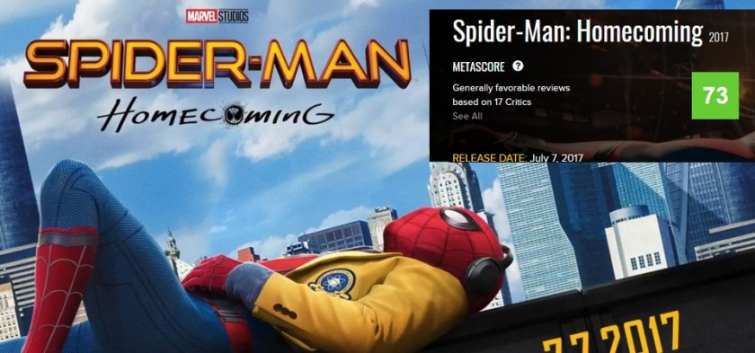 Spider-Man Homecoming com média alta no Metacritic