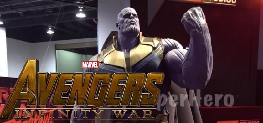 Estátua do Thanos de Vingadores - Guerra Infinita é exibida na D23 Expo