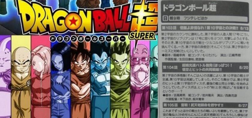 Dragon Ball Super - Títulos e Sinopses dos Episódios 103, 104 e 105