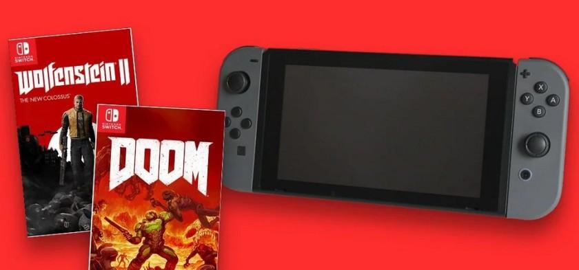 Doom e Wolfenstein II serão lançados para Nintendo Switch