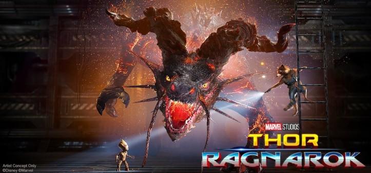 Dragão de Surtur de Thor - Ragnarok revelado no twitter da Marvel