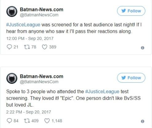Primeiras Reações de Liga da Justiça - O Filme