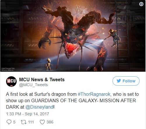 Surtur Dragon no Twitter da Marvel