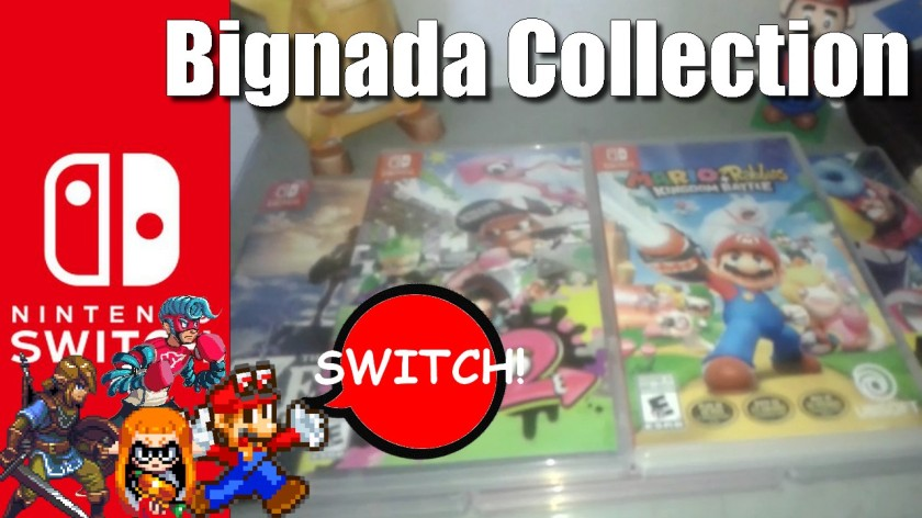 BIGNADA COLLECTION - Jogos de Nintendo Switch - Zelda, Mario Kart 8 Deluxe, Arms, Splatoon 2 e Mario+Rabbids