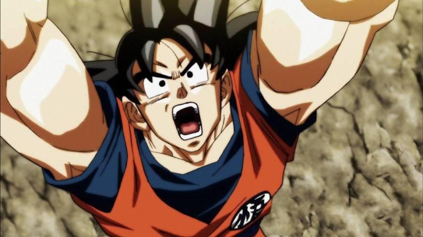 Goku fazendo Genki Dama (Dragon Ball Super - Episódios 109-110)