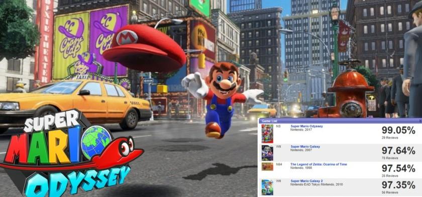 Super Mario Odyssey - Jogo fica em primeiro lugar nos melhores de todos os tempos