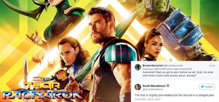Thor - Ragnarok terá duas cenas pós-créditos