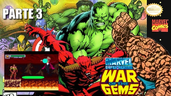 Joga Bignada - Marvel Super Heroes - War of the Gems (SNES) - Parte 3 - Vingadores do Mal