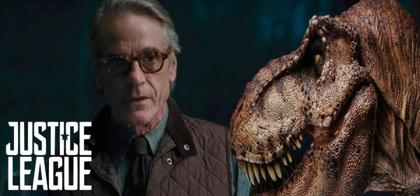 Liga da Justiça - Cena Deletada de Alfred com T-Rex