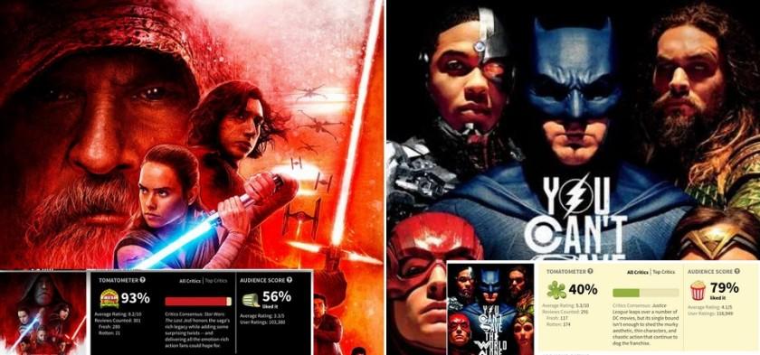 Star Wars - Os Últimos Jedi tem notas de público piores que Liga da Justiça