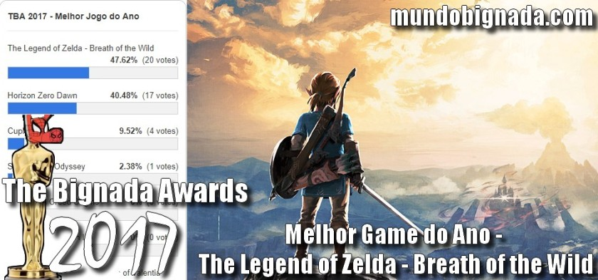 The Legend of Zelda - Breath of the Wild - Melhor Game do Ano no The Bignada Awards 2017