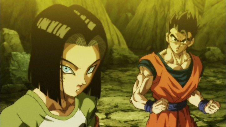 Nº 17 e Gohan em Vegeta em Dragon Ball Super - Episódio 122