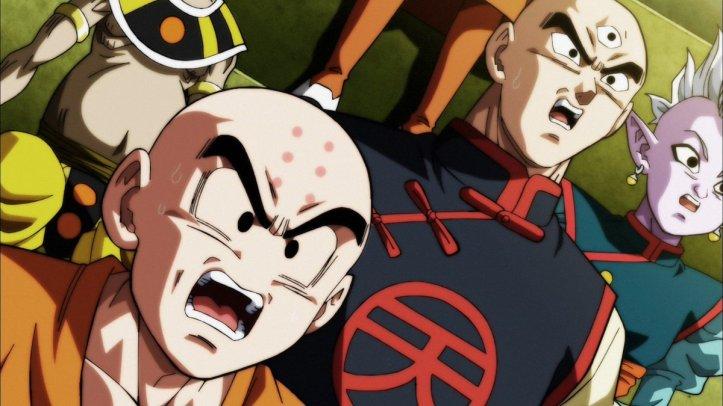 Kuririn, Tenshihan e Kaioshin em Dragon Ball Super - Episódio 122