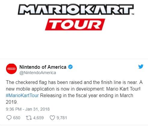 Mario Kart Tour é anunciado para Mobile