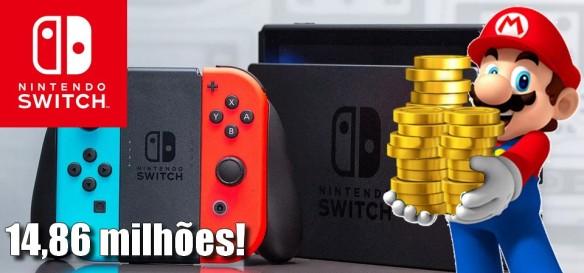 Nintendo Switch ultrapassa 14,86 milhões de unidades vendidas