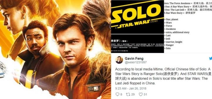 Ranger Solo será o título do filme do Han Solo na China