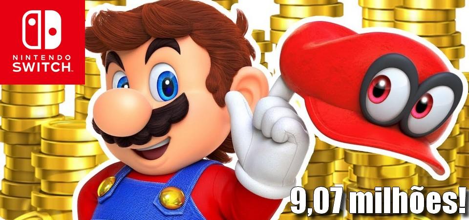 Super Mario Odissey ultrapassa 9,07 milhões de unidades vendidas