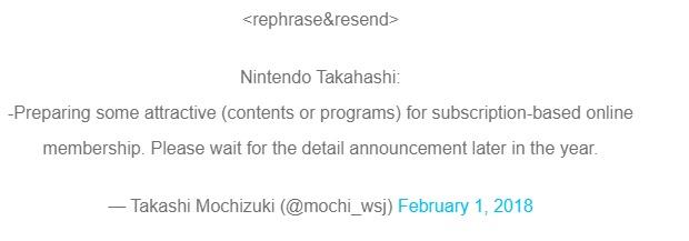 Takashi Mochizuki fala sobre o Nintendo Switch Online