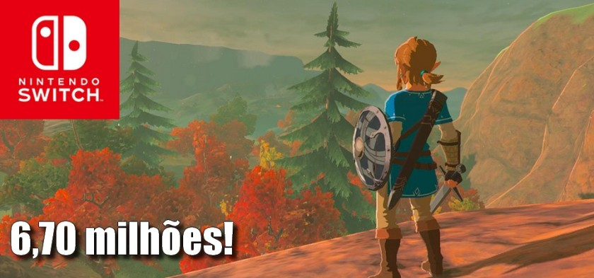 The Legend of Zelda - Breath of the Wild ultrapassa 6,70 milhões de unidades vendidas