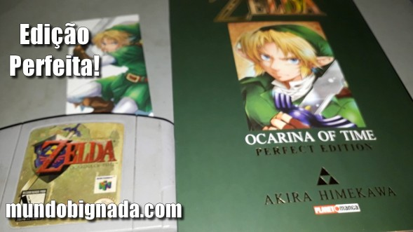 The Legend of Zelda - Ocarina of Time - Perfect Edition (Mangá) - Edição Perfeita - Bignada Collection