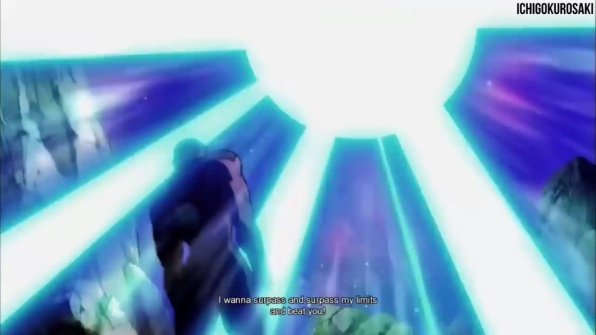 Goku Instinto Superior lança Kamehameha contra Jiren - Dragon Ball Super - Episódio 129