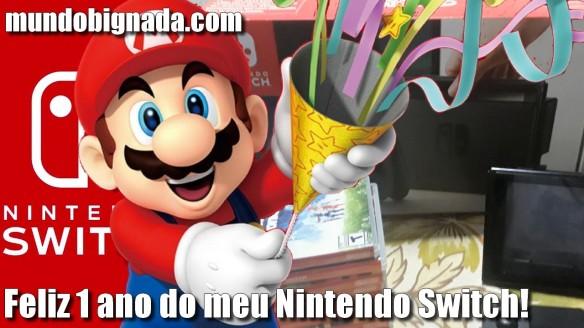 Faz hoje 1 ano que comprei meu Nintendo Switch - BIGNADA COLLECTION