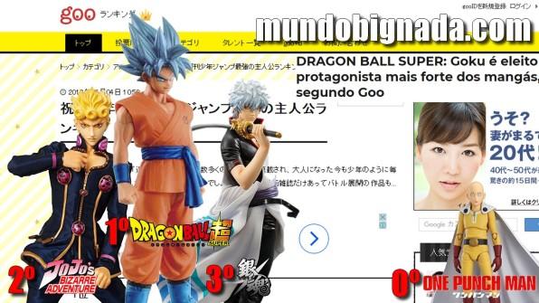 Goku é eleito o protagonista mais forte dos mangás! Saitama nem aparece! Bignada News