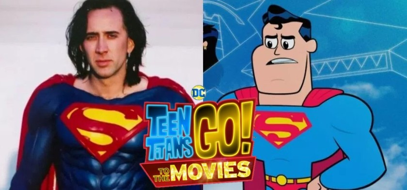 Nicolas Cage será o Superman em Teen Titans Go The Movie