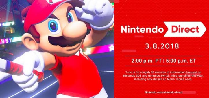 Nintendo Direct 08 03 2018 - Focado em Mario Tenis Aces e outros jogos de Switch e 3DS